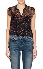 Floral Silk Georgette Blouse by Barneys New York at Barneys