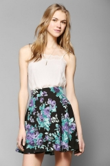 Floral Skater Skirt at Urban Outfitters