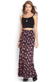 Floral Tiered Maxi Skirt at Forever 21
