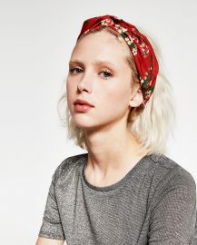 Floral Turban Hairband at Zara
