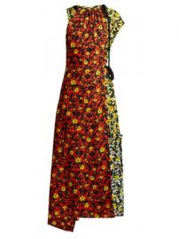 Floral asymmetric midi dress at Matches