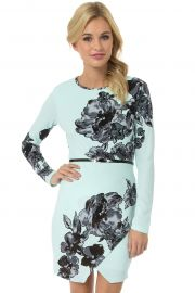 Floral belted envelope dress at Teeze Me