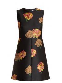 Floral-brocade mini dress at Matches