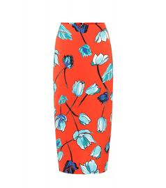 Floral crêpe pencil skirt at Mytheresa