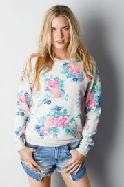 Floral crew sweatshirt at American Eagle