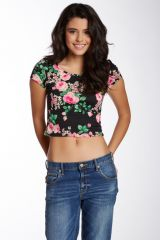 Floral crop top at Nordstrom Rack