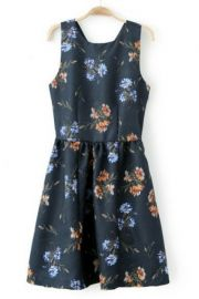 Floral cross back dress at Oasap