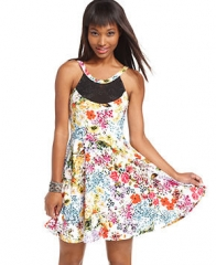 Floral dress by Material Girl at Macys