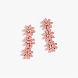Floral drop earrings in Fresh Peony at J. Crew