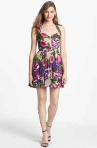 Floral fit and flare dress by Nicole Miller at Nordstrom