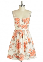 Floral flared dress at Modcloth at Modcloth