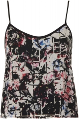 Floral grid print cami at Topshop