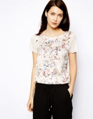Floral jacquard top at Asos