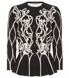 Floral knit cardigan at Mytheresa