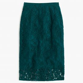 Floral lace pencil skirt at J. Crew
