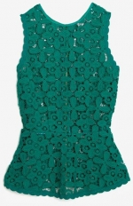 Floral lace peplum top by Exclusive for Intermix at Intermix