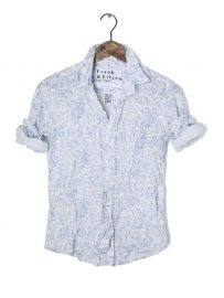 Floral linen shirt by Frank and Eileen at Ron Herman