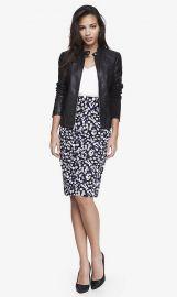 Floral midi skirt at Express