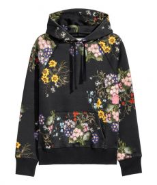 Floral-patterned Hooded Top by H&M at H&M