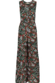Floral-print crepe jumpsuit by Maje at The Outnet