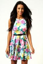Floral print dress at Boohoo at Boohoo