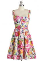 Floral print dress at ModCloth at Modcloth