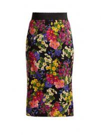 Floral-print silk-blend skirt at Matches