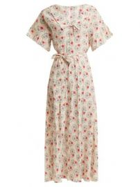 Floral-print silk crepe de Chine dress at Matches