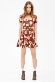 Floral print skater dress at Forever 21