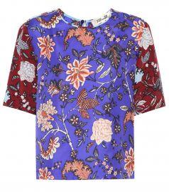 Floral-printed silk shirt at Mytheresa