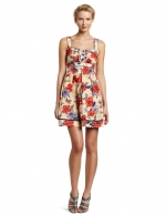 Floral ruffle front dress by Jessica Simpson at Amazon