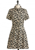 Floral shirt dress like Annies at Modcloth