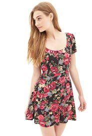 Floral skater dress at Forever 21