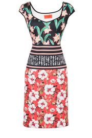 Floral sunrise sheath by Clover Canyon at Rent the Runway