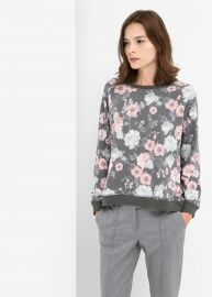 Floral sweatshirt at Mango