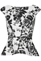 Floral top by Oscar de la Renta at Net A Porter