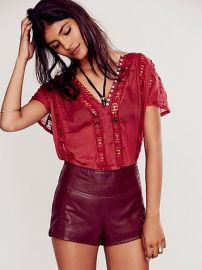 Flower Chain Top in Maroon at Free People