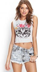 Flower Crown Kitten Tank at Forever 21