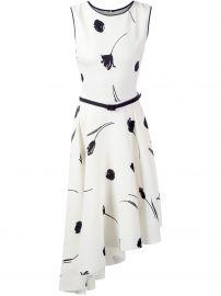Flower Print Asymmetric Dress  Oscar de la Renta at Farfetch