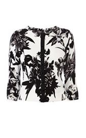 Flower Print Cardigan at Karen Millen