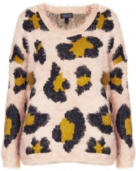 Fluffy Animal Sweater at Topshop