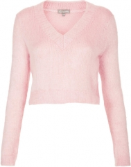 Fluffy Crop Sweater at Topshop
