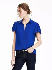 Flutter sleeve top at Banana Republic