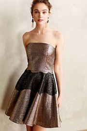 Foil Brocade Mini Dress at Anthropologie