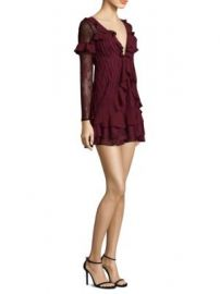 For Love   Lemons - Daphne Long-Sleeve Lace Mini Dress at Saks Fifth Avenue