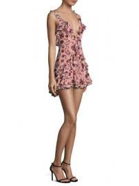For Love   Lemons - Poppy Floral Ruffle Mini Dress at Saks Fifth Avenue