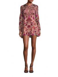 For Love   Lemons - Saffron Floral-Print Mini Dress at Saks Fifth Avenue