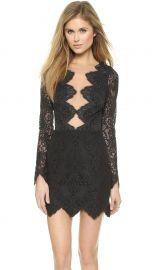 For Love andamp Lemons Noir Lace Mini Dress in Black at Shopbop
