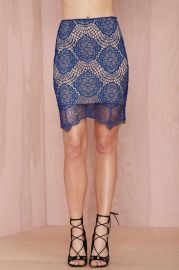 For love and lemons midnight lace skirt at Nasty Gal