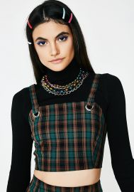 Forest Conflict of Interest Plaid Top at Dolls Kill
